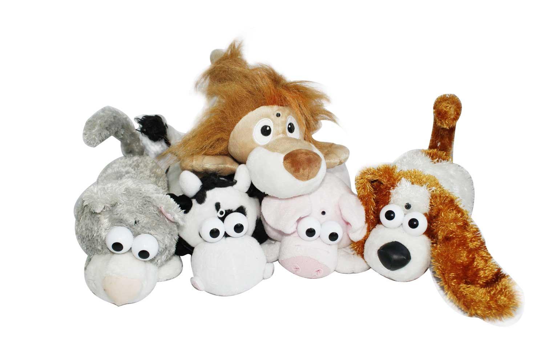 Plush animal laughing toy