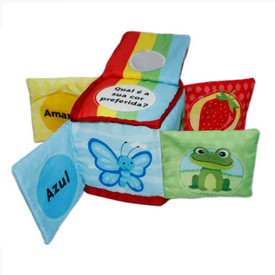 Educational Soft baby cloth book – Square book