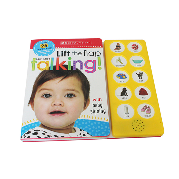Customzied 10 buttons educational book for UK