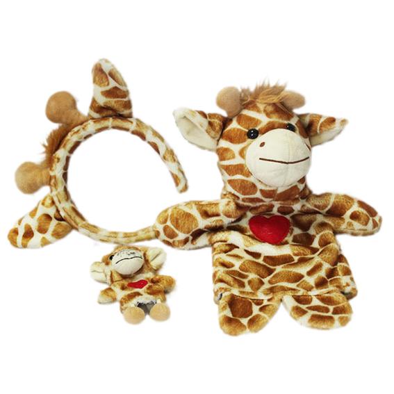 Customized hand puppets-Three cute giraffe