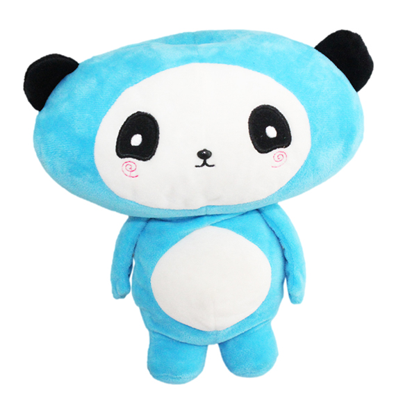 Customized hand puppets-Blue panda