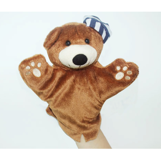 Customized hand puppets-Blue hat bear