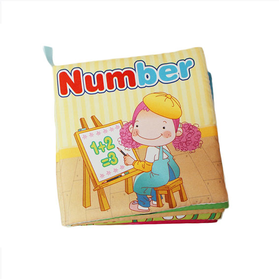 Educational Soft baby cloth book – Number