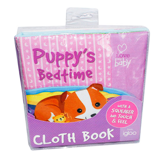 Educational Soft baby cloth book – Puppy's bedtime