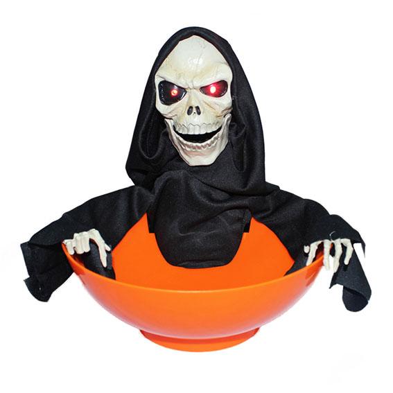 Halloween Toy – Dancing skeleton with big fruit plate