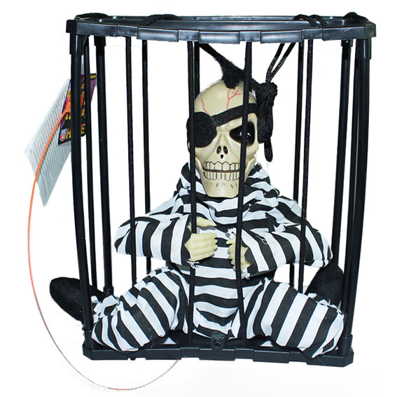 Halloween Prison One-eyed Skeleton