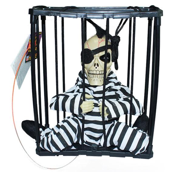 Halloween Prison One-eyed Skeleton