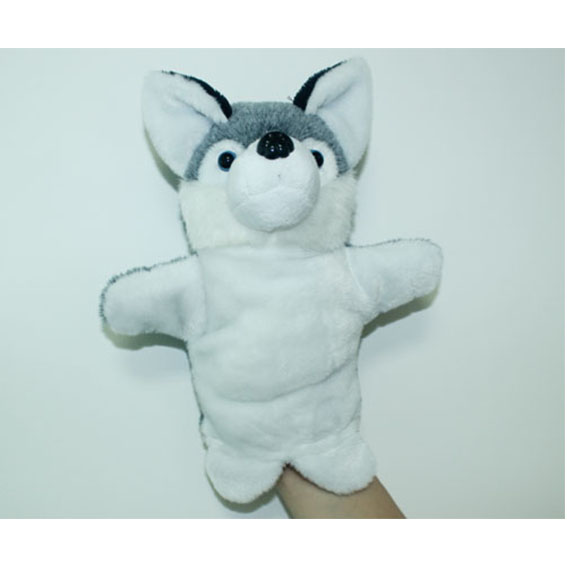 Customized hand puppets-Grey wolf