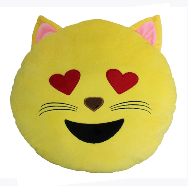 Custom Emoji Pillows-Cat face