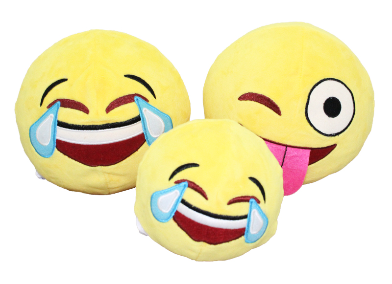 Custom super soft Plush Stuffed Emoji Pillows promotion gifts round