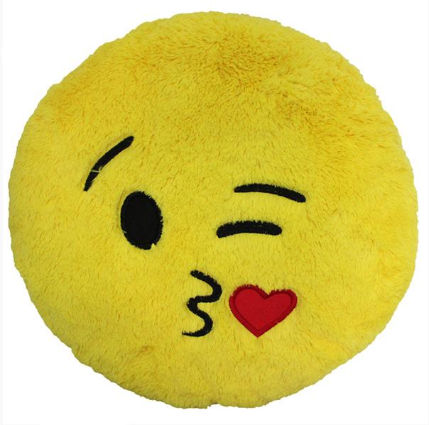 Custom Emoji Pillows-kiss