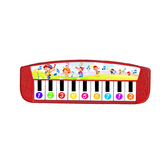Piano music box for music book – Red