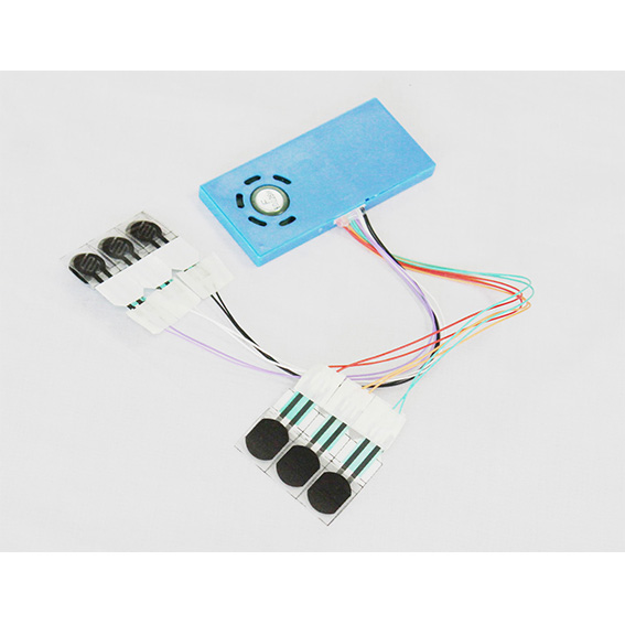 6 sound button module for children books – Blue