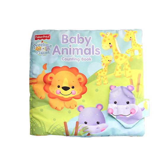 Educational Soft baby cloth book fabric cloth books – Animal rustling bush cloth book