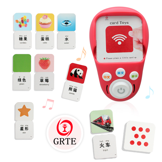 Learning cards machine for children