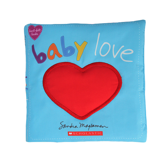 Educational Soft baby cloth book – Red heart
