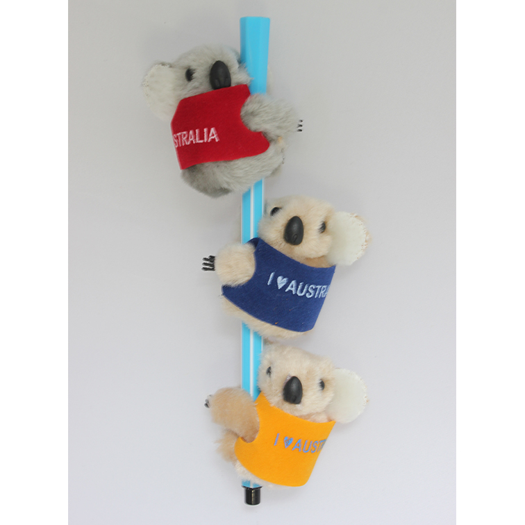 Promotional clip on koala with vest for souvenir