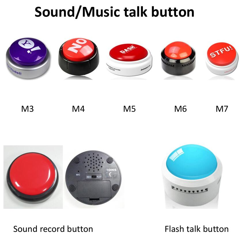 Sound recordable music talk flash button – musical key chain – opener