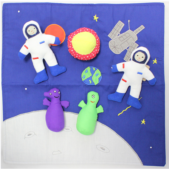 Space plane astronaut toy