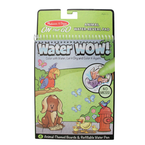 Educational Magic Water Book  Custom Doodle  Drawing Animal Water-reveal Pad